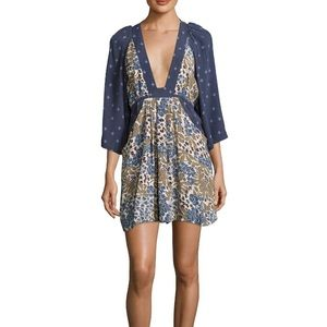 Free People Tallula mini dress with pockets Size S